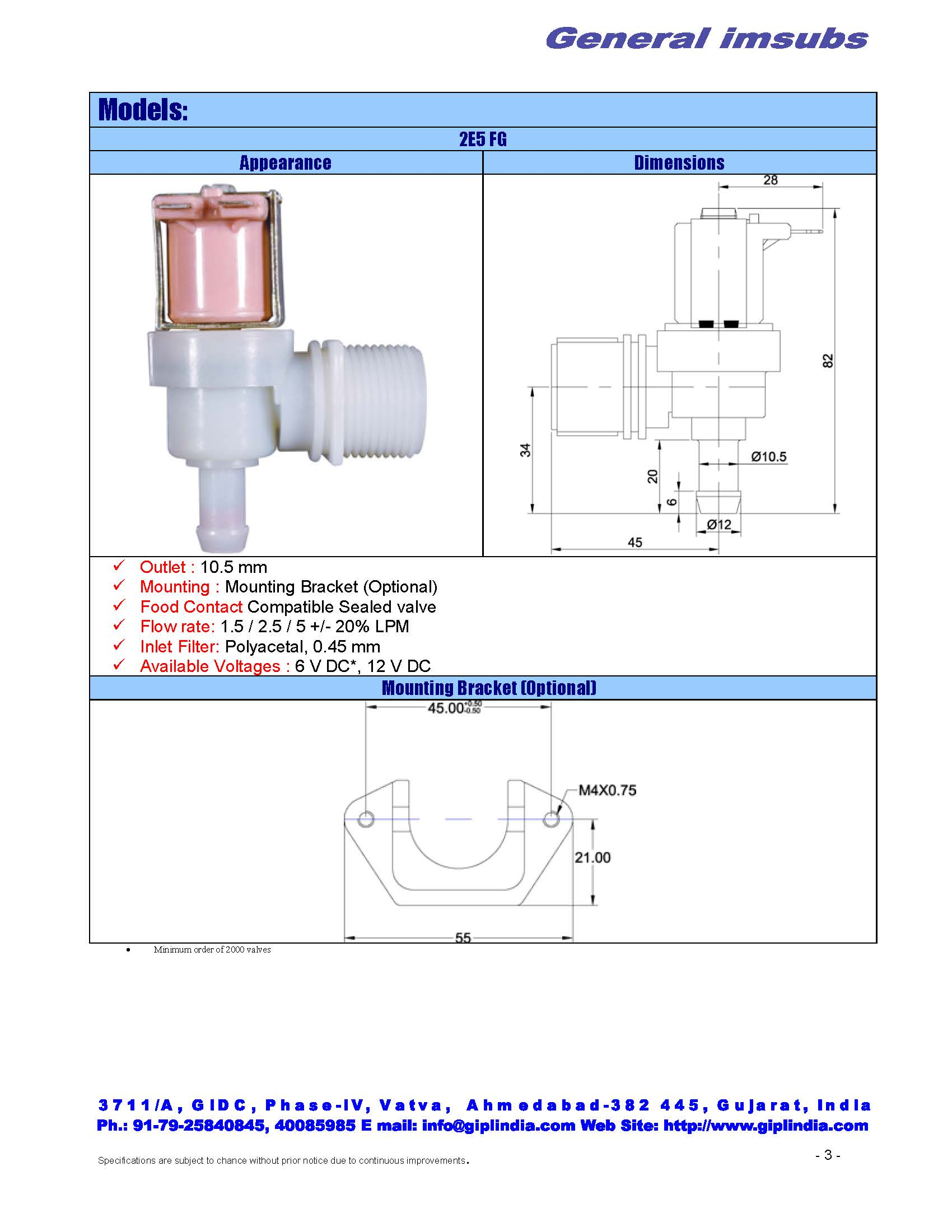 solenoid valve for aqua guard