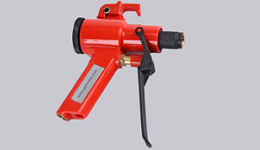 ergonomic gun for various compressed air saving blow nozzles
